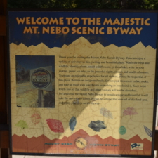 Sign announcing Scenic Byway, near Payson - Mt Nebo UT