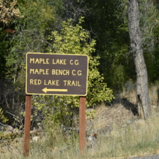 Sign to Red Lake Trail - Mt Nebo UT