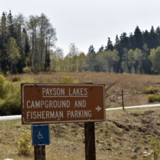 Sign to Payson Lakes Campground - Mt Nebo UT