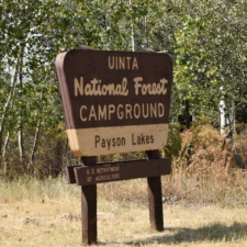 Entrance sign, Payson Lakes Campground - Mt Nebo UT