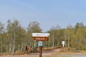 Sign to Monument trailhead - Mt Nebo UT