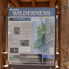 Wilderness map at Nebo Bench area - Mt Nebo UT