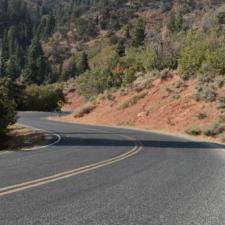 Mt. Nebo Loop Road, south of Salt Creek Overlook - Mt Nebo UT