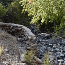 Failed retaining wall, Salt Creek,Bear Canyon campground - Mt Nebo UT