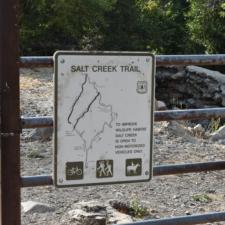 Sign at Salt Creek Trailhead - Mt Nebo UT