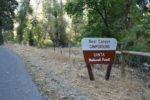 Sign to Bear Canyon campground - Mt Nebo UT