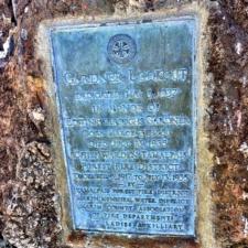Plaque on Gardner Fire Tower - Mt Tamalpais CA