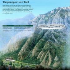 Timpanogos Cave trail map (NPS) - Mt Timpanogos UT