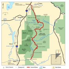 Mt Nebo Scenic Byway map, US DoT - Mt Nebo UT