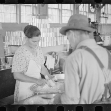 Untitled photo, possibly related to: Community canning, Dyess Colony, Arkansas
