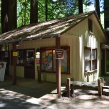 Entrance station, Burlington campground - Humboldt Redwoods State Park CA