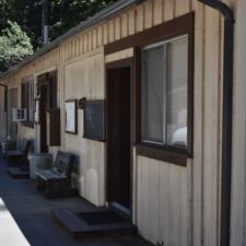Former recreation hall behind Burlington visitors' center -Humboldt Redwoods State Park CA
