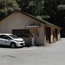 Garage/utility building behind Burlington visitors' center -Humboldt Redwoods State Park
