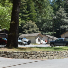Utility buildings behind Burlington visitors' center -Humboldt Redwoods State Park CA