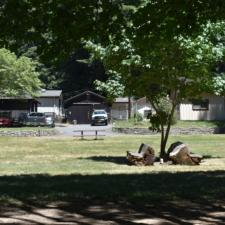 Variousbuildings behind Burlington visitors' center -Humboldt Redwoods State Park