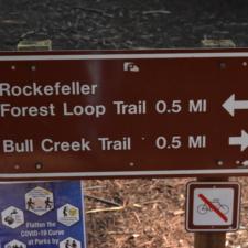 Trail sign -Humboldt Redwoods State Park CA