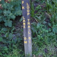 Frederick Lane loop trail marker - Humboldt Redwoods State Park CA