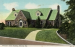 Postcard showing the NYA-built Murray Woman's Clubhouse