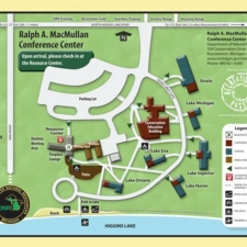 Map of Ralph A. MacMullan Conference Center - North Higgins Lake MI