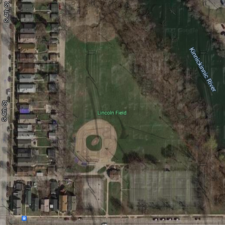 Milwaukee, WI, Lincoln Field, Aerial View, Google Maps