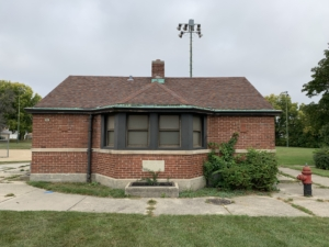 Lincoln Field, WPA Fieldhouse,Milwaukee, WI, closeup